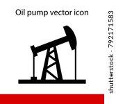 oil rocking silhouette on white ... | Shutterstock .eps vector #792171583