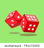 dice gaming sign. casino theme. ... | Shutterstock .eps vector #792172453