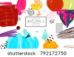 abstract universal art web... | Shutterstock .eps vector #792172750