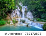 Stock photo kuang si waterfall the beauty of nature 792172873