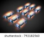 3d rendering  electric vehicles ... | Shutterstock . vector #792182560