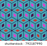 illustration of a kaleidoscope  ... | Shutterstock . vector #792187990