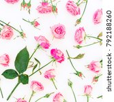 floral natural pattern with... | Shutterstock . vector #792188260