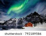lofoten islands  svolvaer ... | Shutterstock . vector #792189586