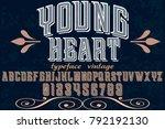 vintage font alphabet... | Shutterstock .eps vector #792192130