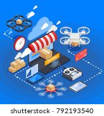 e commerce and goods delivery... | Shutterstock .eps vector #792193540