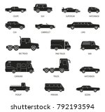 black silhouettes set of... | Shutterstock .eps vector #792193594