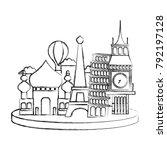 figure travel adventure site of ...   Shutterstock .eps vector #792197128