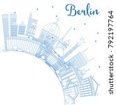 outline berlin germany city... | Shutterstock .eps vector #792197764