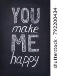 you make me happy phrase... | Shutterstock . vector #792200434
