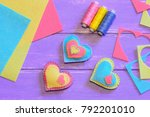 valentines day decorations idea.... | Shutterstock . vector #792201010