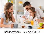 family  eating and people... | Shutterstock . vector #792202810
