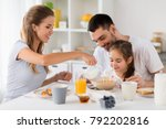 family  eating and people... | Shutterstock . vector #792202816