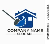 cleaning and maintenance logo... | Shutterstock .eps vector #792203566
