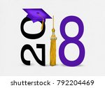 purple graduation cap on text... | Shutterstock . vector #792204469