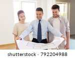 mortgage  people and real... | Shutterstock . vector #792204988