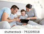 people  family and technology... | Shutterstock . vector #792205018