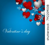 happy valentines day background ... | Shutterstock .eps vector #792209038