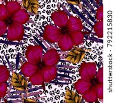 watercolor seamless pattern... | Shutterstock . vector #792215830