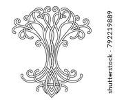 vector celtic national drawing... | Shutterstock .eps vector #792219889