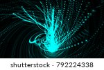 abstract spiral particles.... | Shutterstock . vector #792224338
