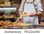 chef serving food at a... | Shutterstock . vector #792226240