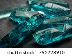 aquamarines  and raw crystal... | Shutterstock . vector #792228910