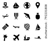 origami style icon set   map... | Shutterstock .eps vector #792231808