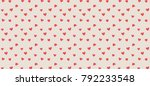 Banner with heart seamless pattern. Valentine's day background