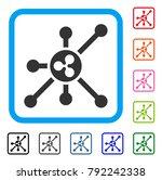 ripple node icon. flat gray...