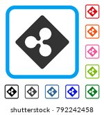 ripple rhombus icon. flat grey...