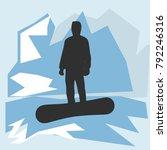 vector snowboarder in the...   Shutterstock .eps vector #792246316