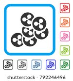 ripple coins icon. flat gray...