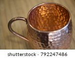 close up of moscow mule copper...   Shutterstock . vector #792247486