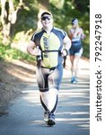 new york   jul 16 2017  athlete ... | Shutterstock . vector #792247918