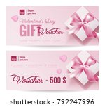 gift voucher coupon discount... | Shutterstock .eps vector #792247996