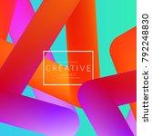 abstract 3d liquid fluid color... | Shutterstock .eps vector #792248830