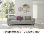 idea of white room with sofa... | Shutterstock . vector #792250480
