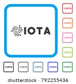 iota ticker icon. flat gray...