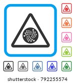 iota danger icon. flat gray... | Shutterstock .eps vector #792255574