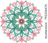 round floral pattern with...   Shutterstock .eps vector #792256474