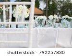 wedding setting on the beach | Shutterstock . vector #792257830
