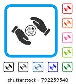 iota care hands icon. flat gray ...