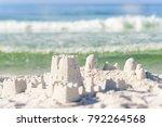 sandcastle on florida beach... | Shutterstock . vector #792264568