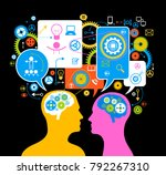 the concept of the functioning... | Shutterstock .eps vector #792267310