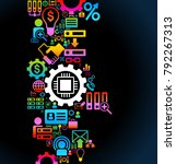 vector background of the icons...   Shutterstock .eps vector #792267313