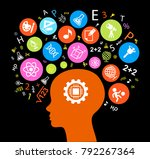 child head education.children... | Shutterstock .eps vector #792267364