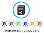 ripple price copy rounded icon. ... | Shutterstock .eps vector #792272578