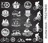 set of mountain biking clubs... | Shutterstock .eps vector #792274840