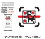 vector design  qr barcode... | Shutterstock .eps vector #792275860